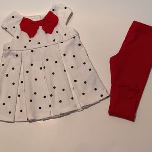 Black polka dot 2-piece set